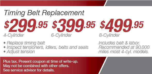 Timing Belt Service Coupon, Phoenix Toyota Service Special. If no image displays, this offer has ended.